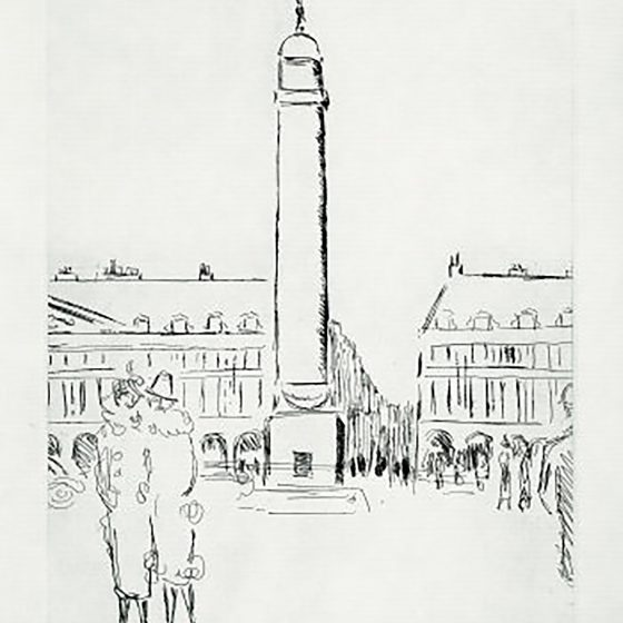 Paris 1937 – Place Vendôme by Kees van Dongen