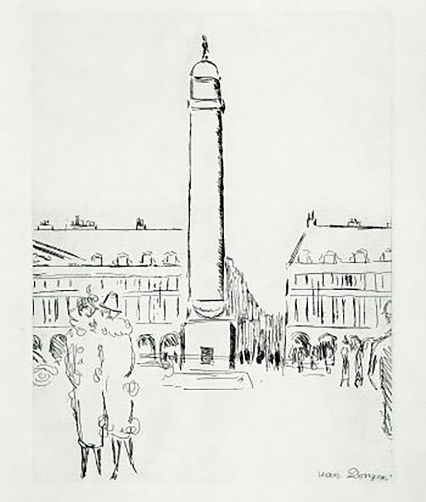 Paris 1937 – Place Vendôme door Kees van Dongen