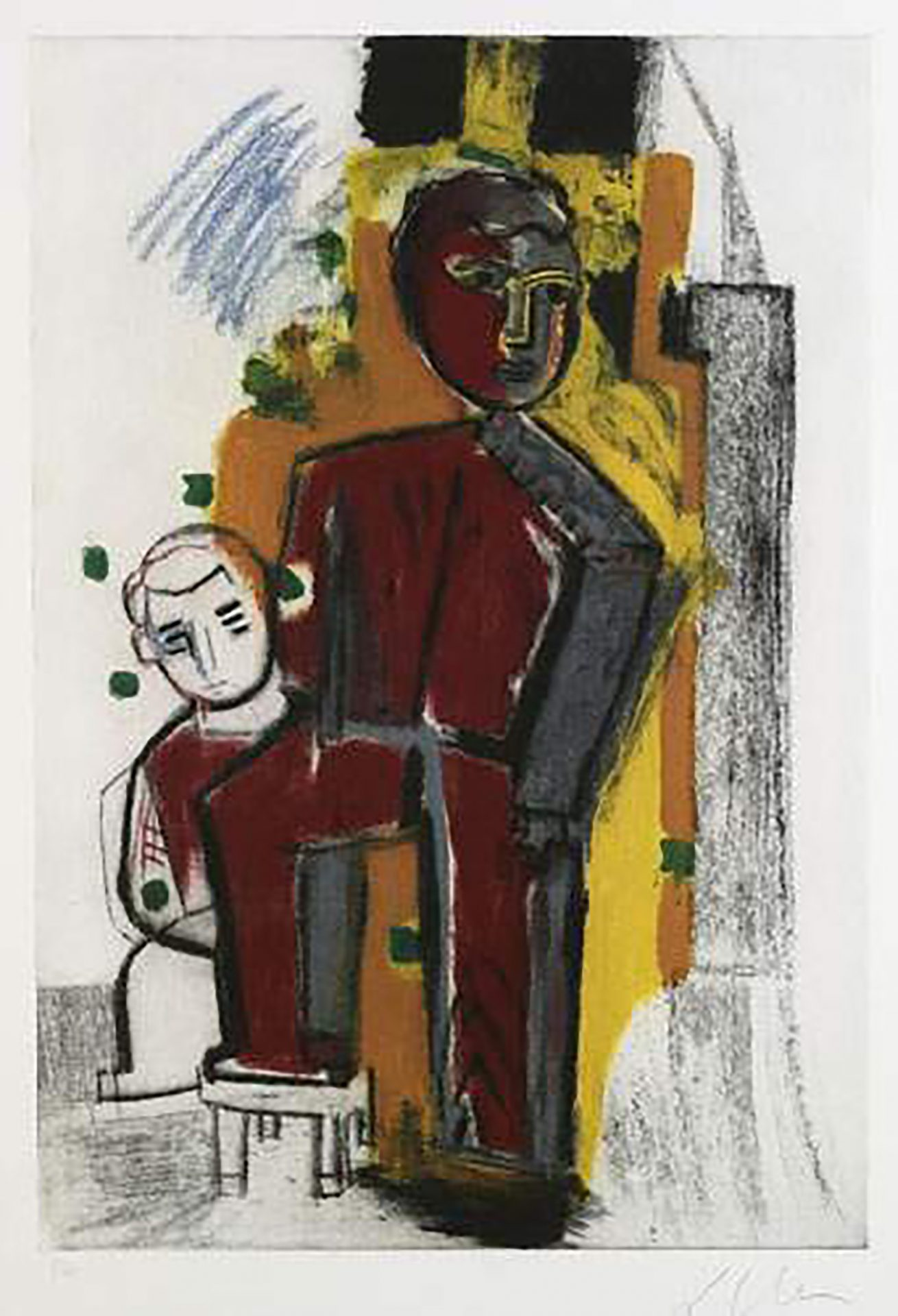 01_Sandro_Chia_aquatint_Man_and_child